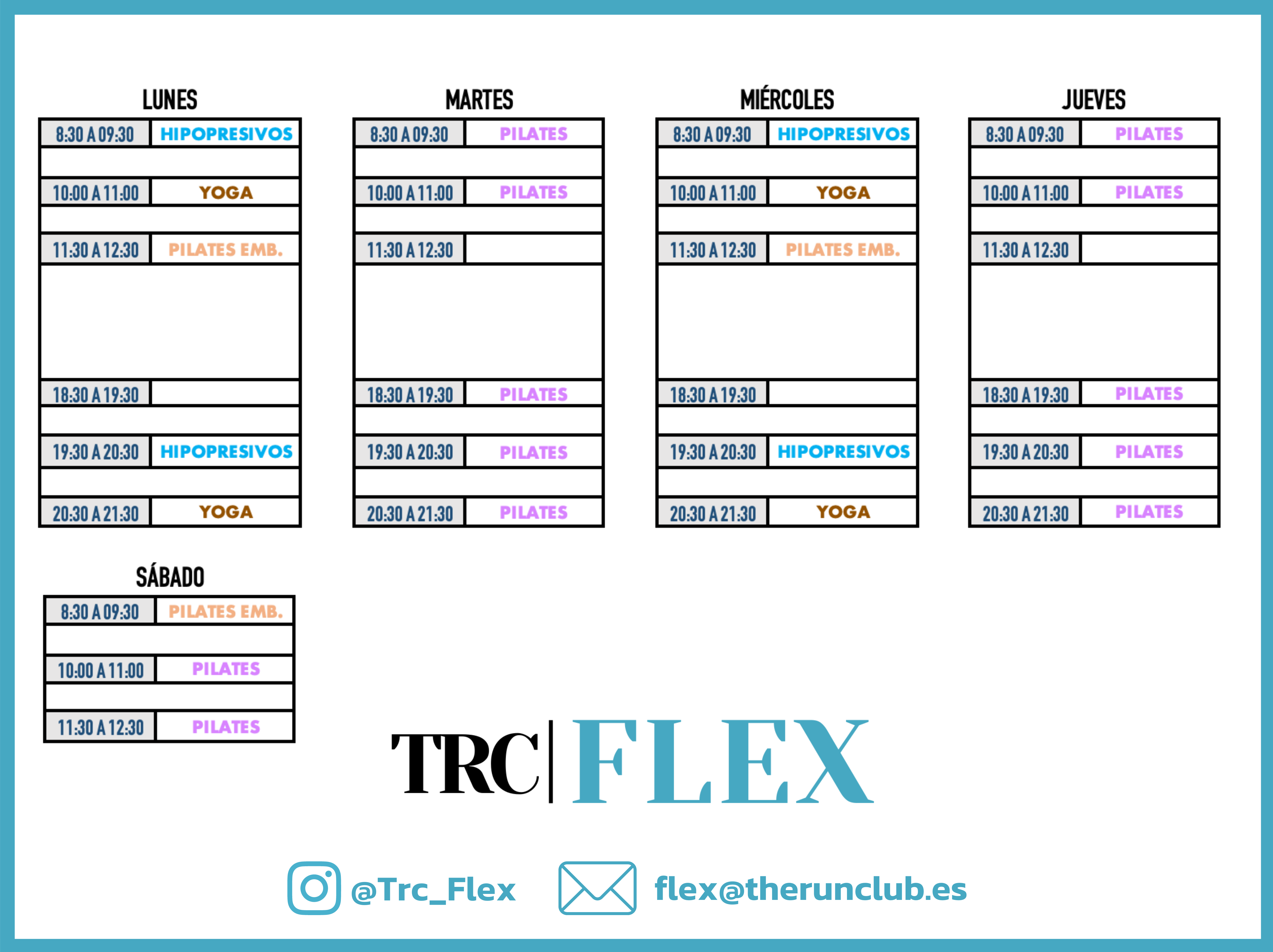 Horarios TRC Flex - Centro de Pilates - Yoga - Hipopresivos en Madrid - (3)