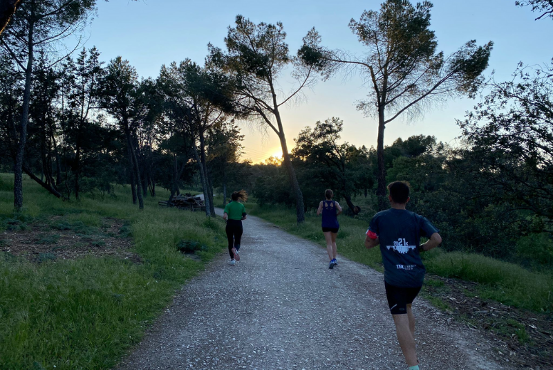 Club de Corredores Retiro - Vista area del parque para correr - TRC The Run Club